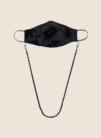 Chaîne pour masque et lunettes, Noir,  automne hiver 2020, chaîne, masque, lunettes, accessoire