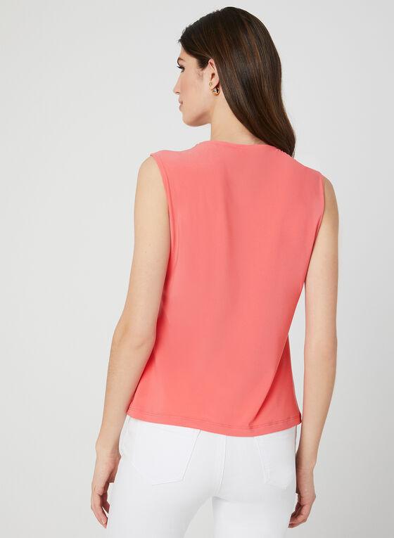 Sleeveless Cutout Top, Orange, hi-res