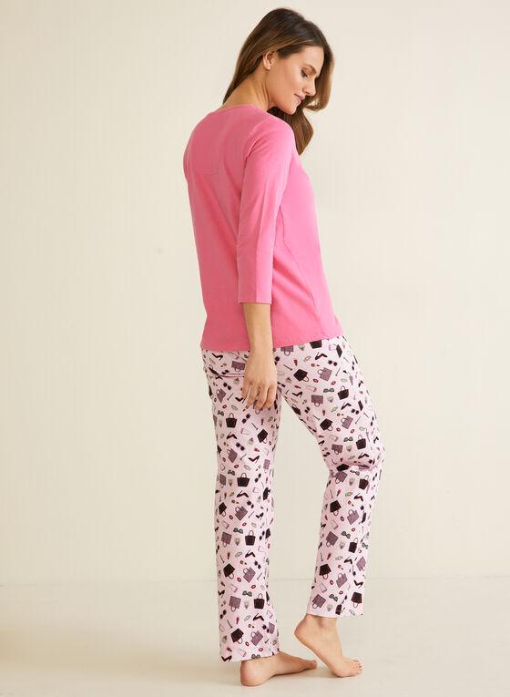 Fashion Motif Pyjama Set, Pink