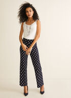 Polka Dot Modern Fit Pants, Blue