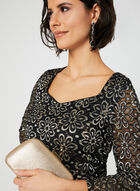 Sequin Lace Top, Black, hi-res