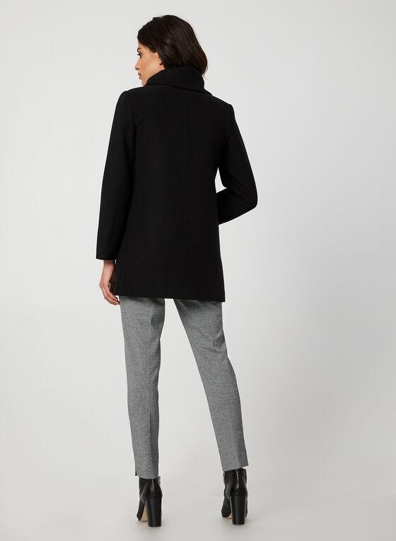 Manteau aspect laine, Noir