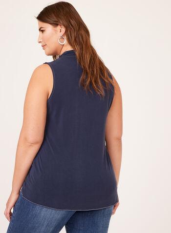 Alison Sheri - Sleeveless Drape Effect Top, Blue, hi-res
