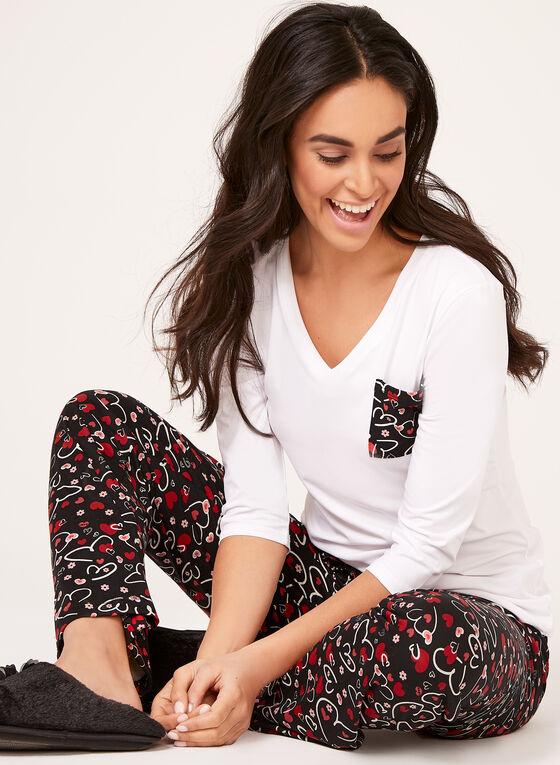 IB Diffusion - Ensemble pyjama à motif romantique, Noir, hi-res