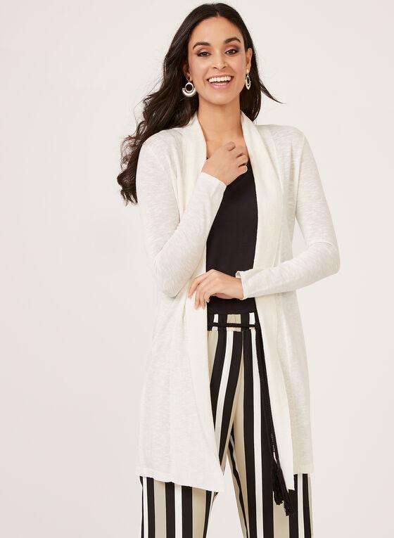 Linea Domani - Haut ouvert en tricot avec col châle, Blanc cassé, hi-res