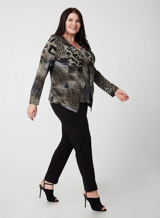 Vex - Haut sans manches à motif léopard, Brun