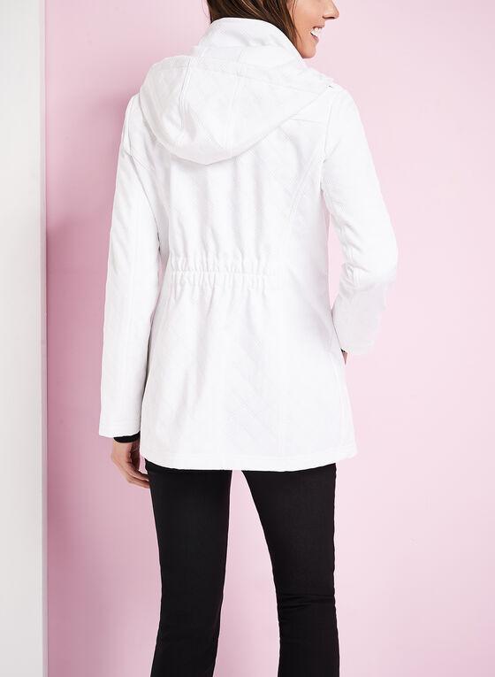 Softshell Detachable Hood Coat , White, hi-res