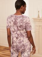 Tie Dye Print T-Shirt, Purple