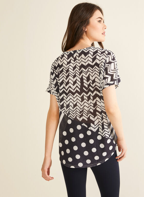Vex - Geometric Print Top, Black