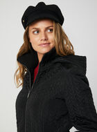 BCBGeneration - Fleece Lined Quilted Coat, Black