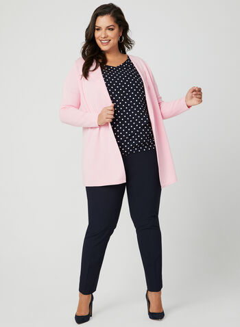 Polka Dot Print Blouse, Blue, hi-res