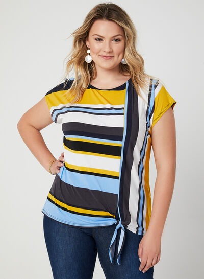 Stripe Print Jersey Top