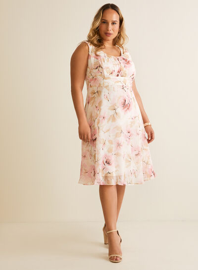 Floral Print Chiffon Day Dress