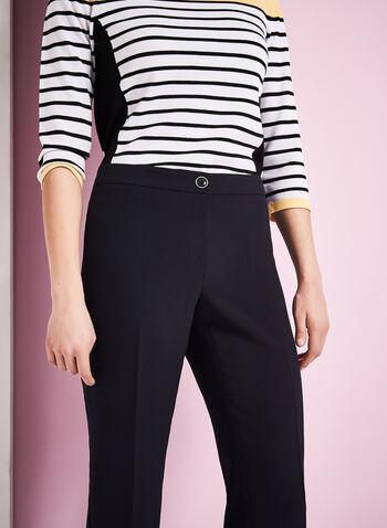 Pantalon coupe Moderne à jambe droite , Bleu,