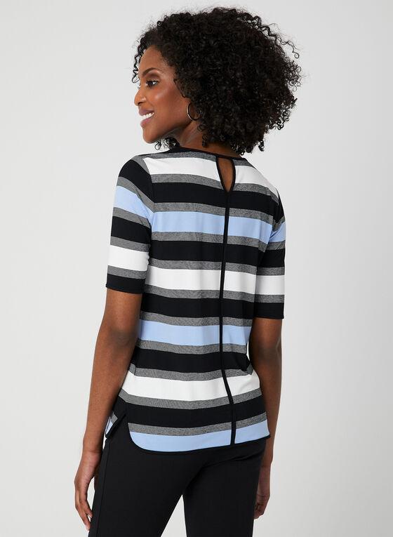 Stripe Print T-Shirt, Blue, hi-res