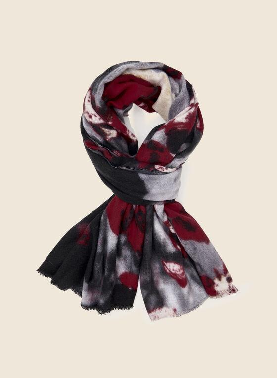 Foulard à motif floral , Noir