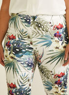 Joseph Ribkoff - Tropical Print Pull-On Pants, White