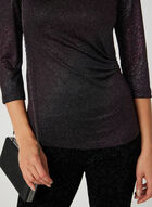 Glitter Jersey Top, Red, hi-res