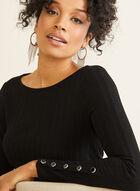 Asymmetrical Tunic Top, Black