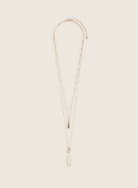 Thin Double Chain Necklace, Gold