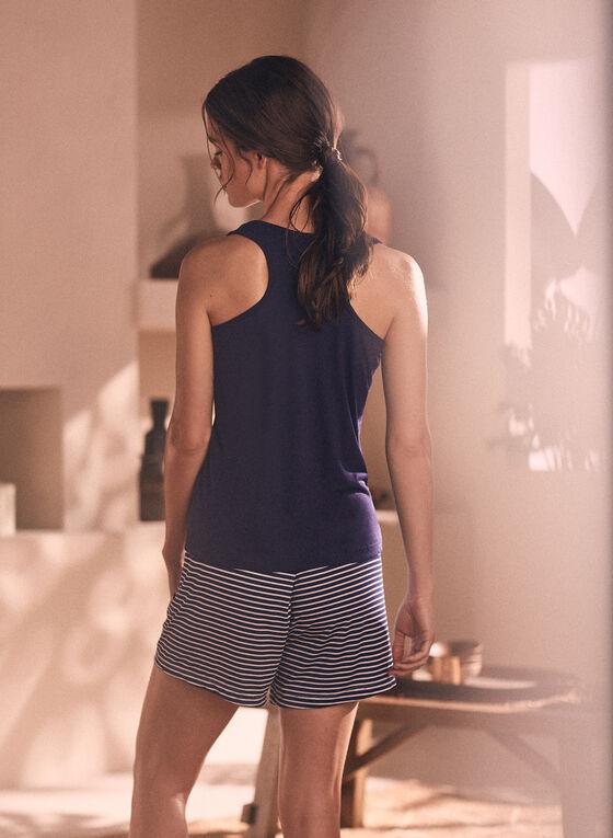 Ensemble pyjama haut et short, Bleu