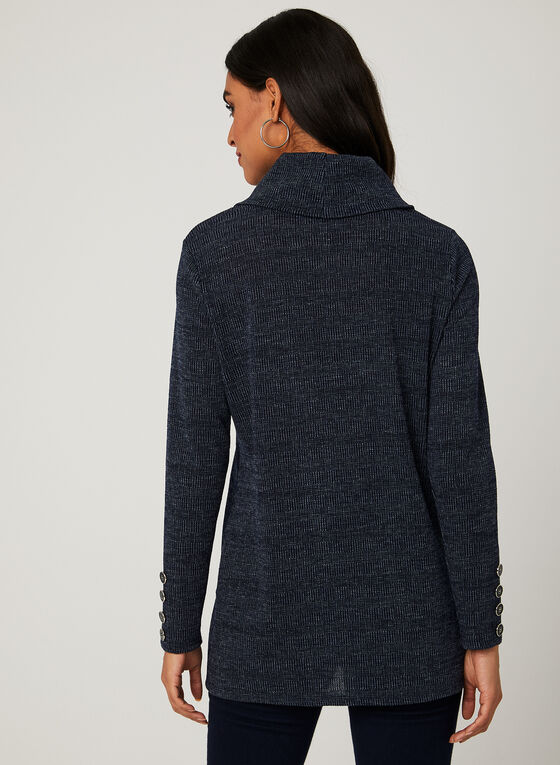 Cowl Neck Sweater, Blue, hi-res