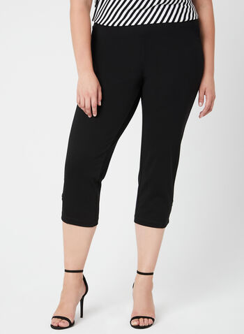 Picadilly - Pull-On Capri Pants, Black, hi-res,  jersey, spring 2019