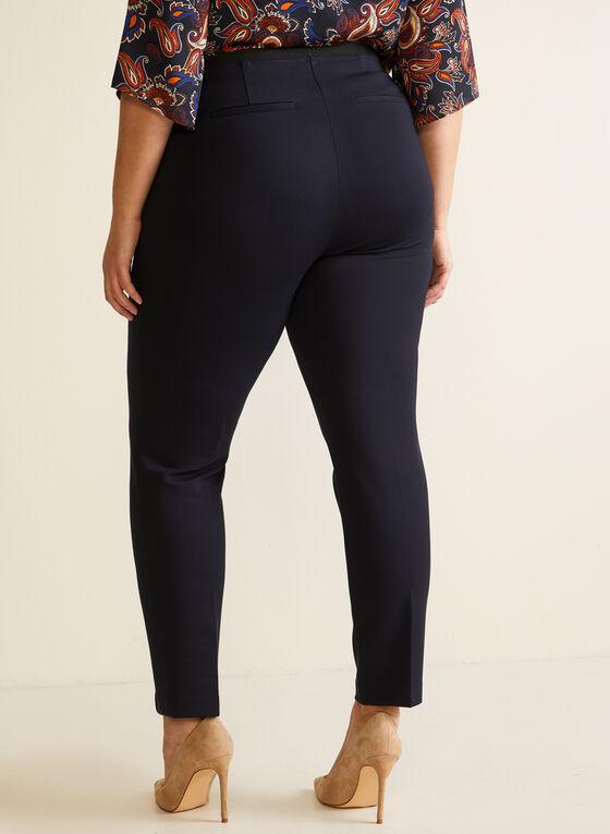 Slim Leg Pull On Pants, Blue