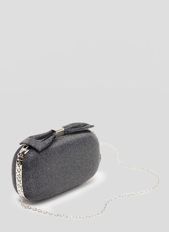 Sparkle Box Clutch, Grey, hi-res