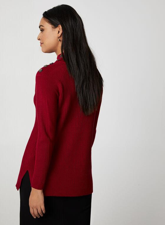 Rib-Knit Sweater, Red