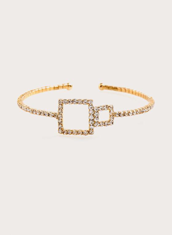 Bracelet à cristaux et ajours géométriques, Or, hi-res
