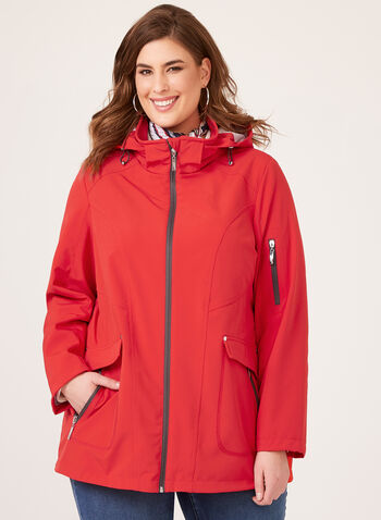Chillax – Breathable Hooded Raincoat, Red, hi-res