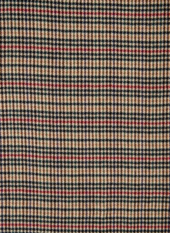 Écharpe motif tartan à franges, Multi