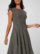 Honeycomb Fit And Flare Dress , Black
