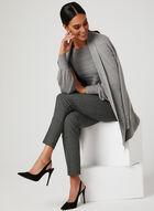 Ribbed Detail Knit Sweater, Grey, hi-res