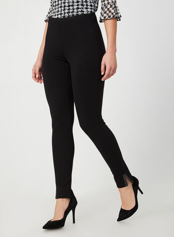 Crystal Detail Leggings, Black, hi-res,  fall winter 2019, leggings, pull-on, essential