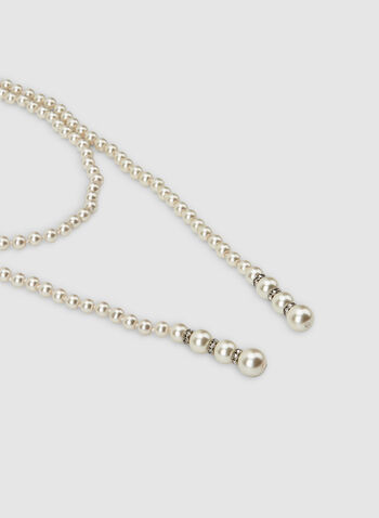 Pearl Necklace, Off White,  necklace, long, pearl, spring summer 2020