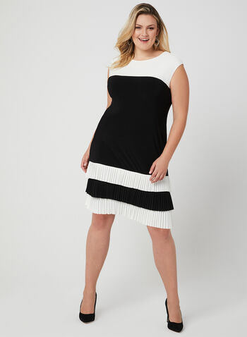 Frank Lyman - Colour Block Dress, Black, hi-res