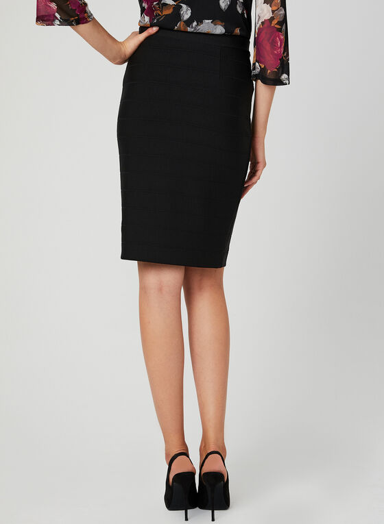 Pull On Pencil Skirt, Black, hi-res