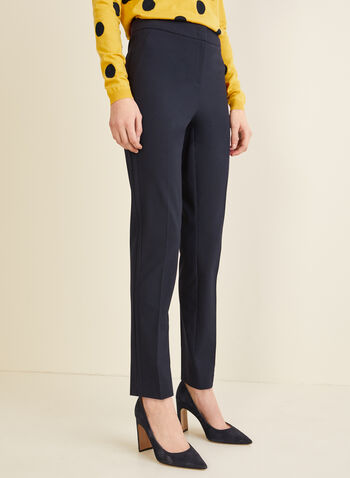 City Fit Straight Leg Pants, Blue,  pants, trousers, City Fit, mid rise, slim thighs, straight hips, straight leg, contour waist, fall 2019, winter 2019