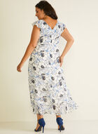Floral Print Faux Wrap Dress, White
