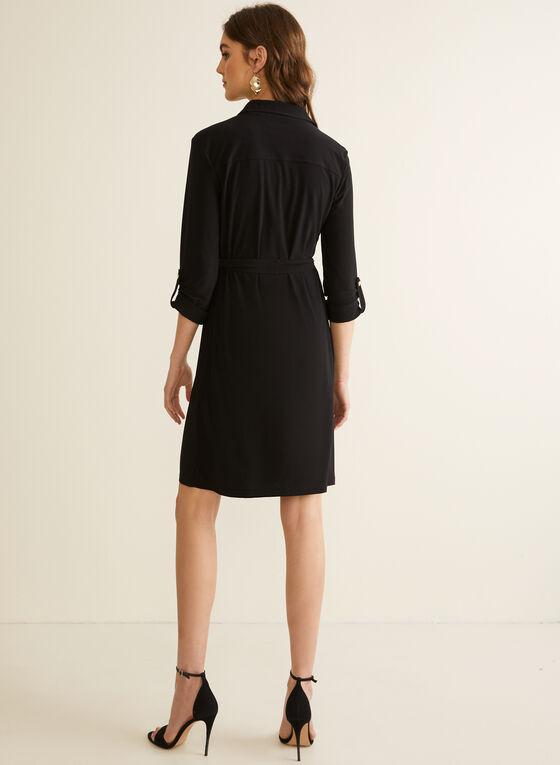 Jersey Shirt Dress, Black