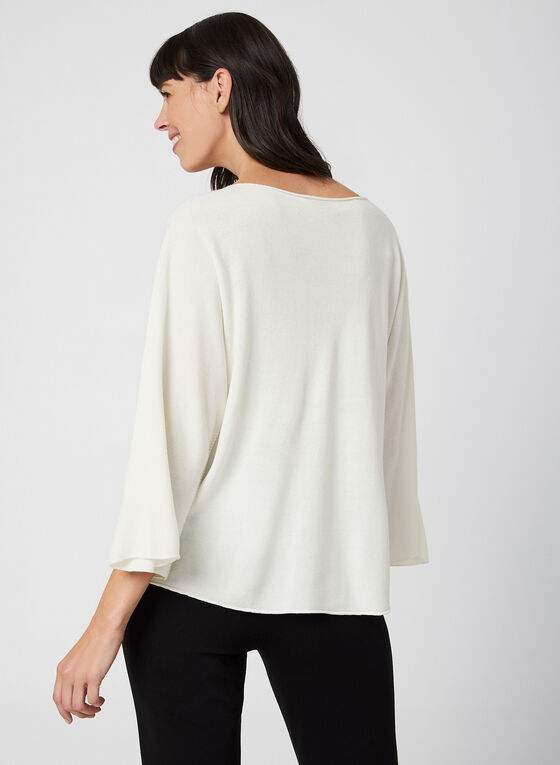 Made in Italy - Batwing Sleeve Sweater, Off White