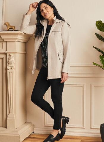 Manteau imperméable à capuchon, Blanc cassé,  printemps été 2020, imperméable, manteau, capuchon, amovible, déperlant, poches