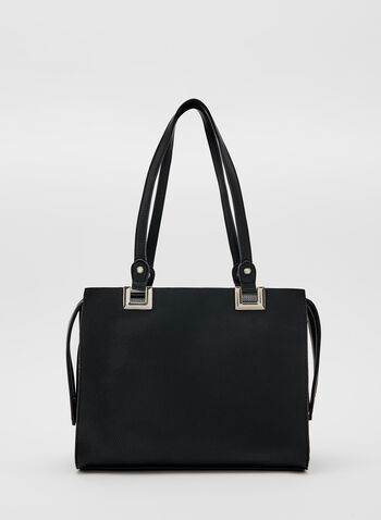 Two Tone Satchel, Black, hi-res