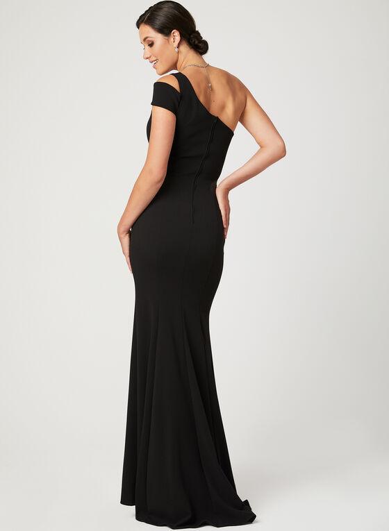 One Shoulder Mermaid Dress, Black