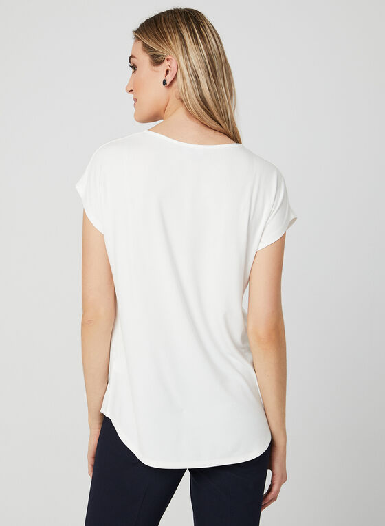 Pearl Embellished Top, Off White