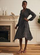 Robe à motif géométrique , Noir