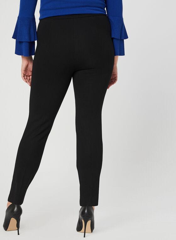 Pantalon pull-on à jambe étroite, Noir, hi-res