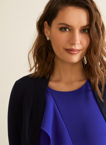 ¾ Sleeve Bolero, Blue,  spring summer 2020, 3/4 sleeves, jersey fabric